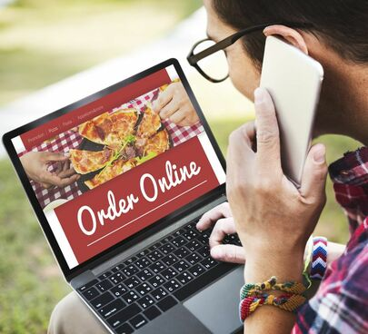 Person placing an online order.